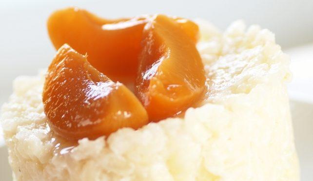 Tortino di riso alle pesche