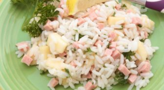 Insalata di riso con prosciutto