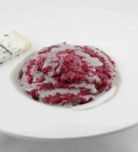 Riso rosso con crema al gorgonzola