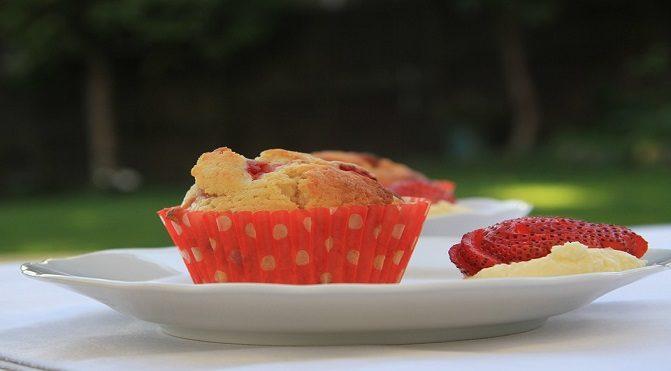 Muffin al melograno gluten free