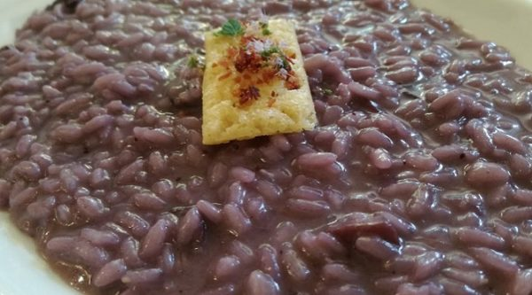 RISOTTO MIRTILLI E SPECK