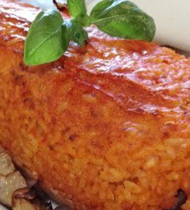 Polpettone di riso alla parmigiana