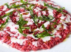 Risotto con rapa rossa, gorgonzola e rucola-chef Andrea Fusco