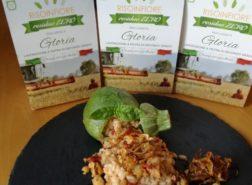 Risotto con Riso Gloria di Risoinfiore, cernia, zucchine e croccante di cipolla