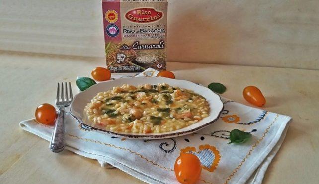 Risotto con pomodorini e mazzancolle-Riso Guerrini
