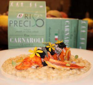 Il risotto con astice agli agrumi-Carnaroli Riso Preciso