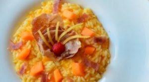 Impiattamento risotto con prosciutto e melone-Riso Buono
