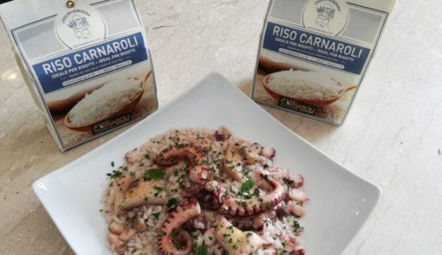 Risotto con polpo, calamaro e pesce spada_Carnaroli Cascina Alberona