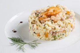 Risotto gourmet con riso invecchiato