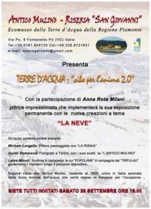 Locandina vernissage all'Antico Mulino_ Anna Rota Milani