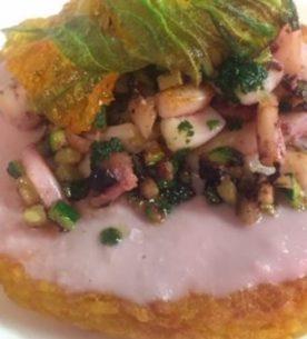 Riso croccante allo zafferano con zucchine e calamari-La Cucina dei Frigoriferi Milanesi