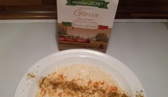 Risotto con polvere di pistacchi e bottarga di muggine-Risoinfiore