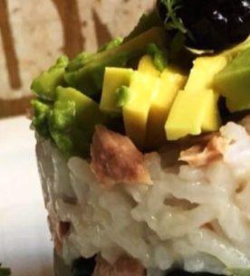 Torretta di riso al tonno