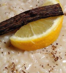 Risotto al limone e liquirizia
