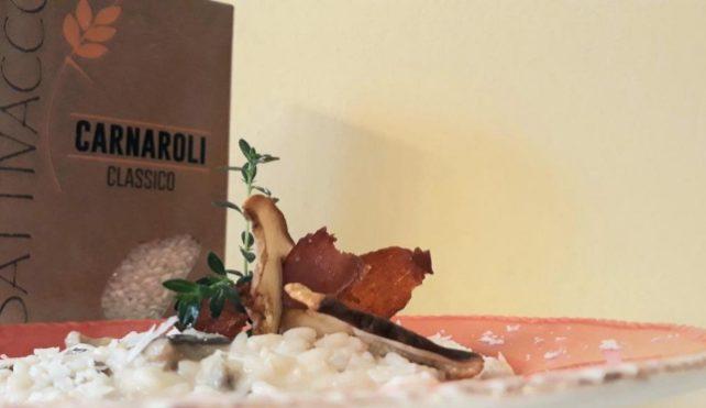 Risotto con funghi porcini e formaggio di Fossa_Carnaroli Battivacco