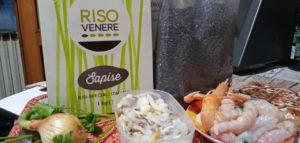 Ingredienti per il risotto di Venere Sapise