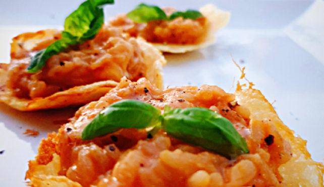 Cestini con risotto
