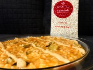 Impiattamento risotto alla parmigiana di melanzane e scamorza affumicata_Riso Buono