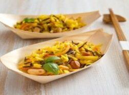 Barchette di risi aromatici e verdure