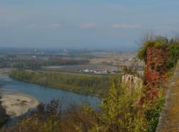 Il panorama dalla fortezza di Verrua Savoia