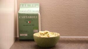 Impiattamento risotto agli asparagi_Carnaroli classico bio riso Preciso