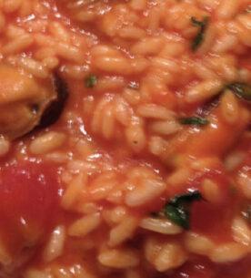 Risotto pomodori e cozze