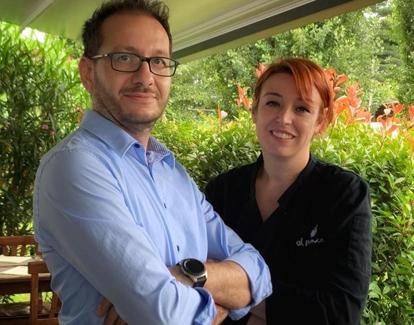 Claudia Fonio e Luca Fossati dell'Agriturismo Al Pum Rus