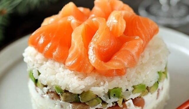 Tortino di riso al salmone