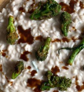 Risotto con gorgonzola e cimette di rapa