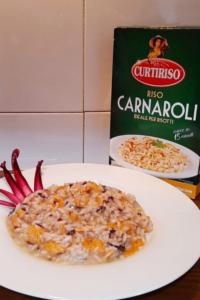Impiattamento risotto con salmone e radicchio_Carnaroli Curtiriso