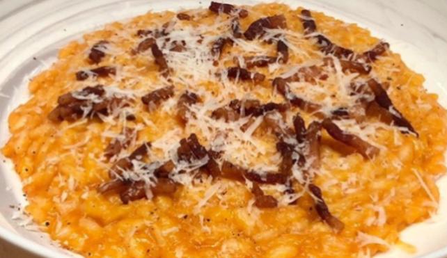 Il risotto all'amatriciana di Chef Delio, con Riso Preciso