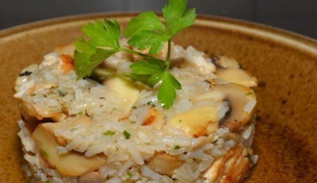 Risotto probiotico: riso integrale, zucca e funghi