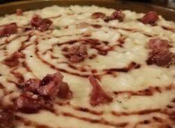 Il risotto biellese con toma, salame d'asino e riduzione di Bramaterra