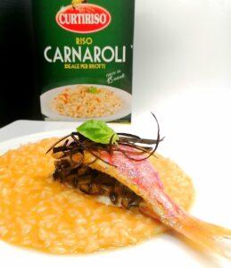 Impiattamento del risotto alla parmigiana di mare_Carnaroli Curtiriso