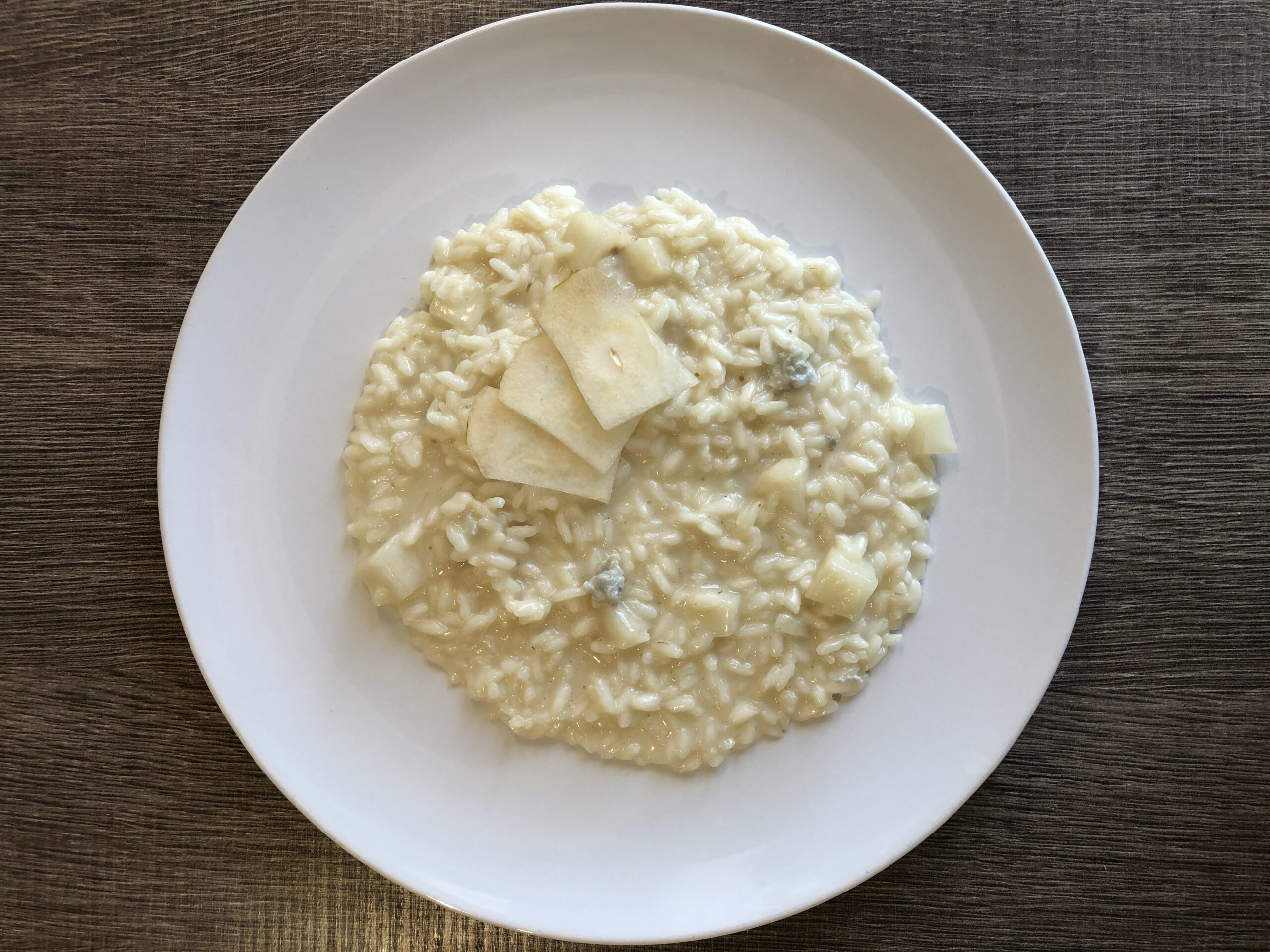 risotto gorgonzola e pere