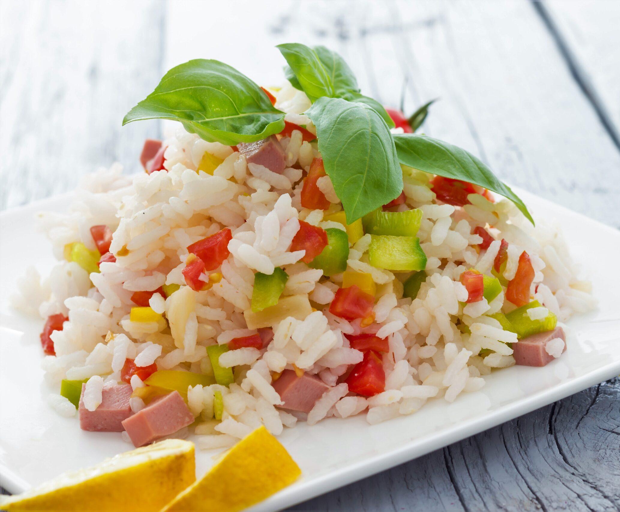 insalata di riso al prosciutto