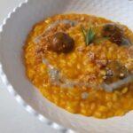 risotto zucca castagne e formaggio erborinato