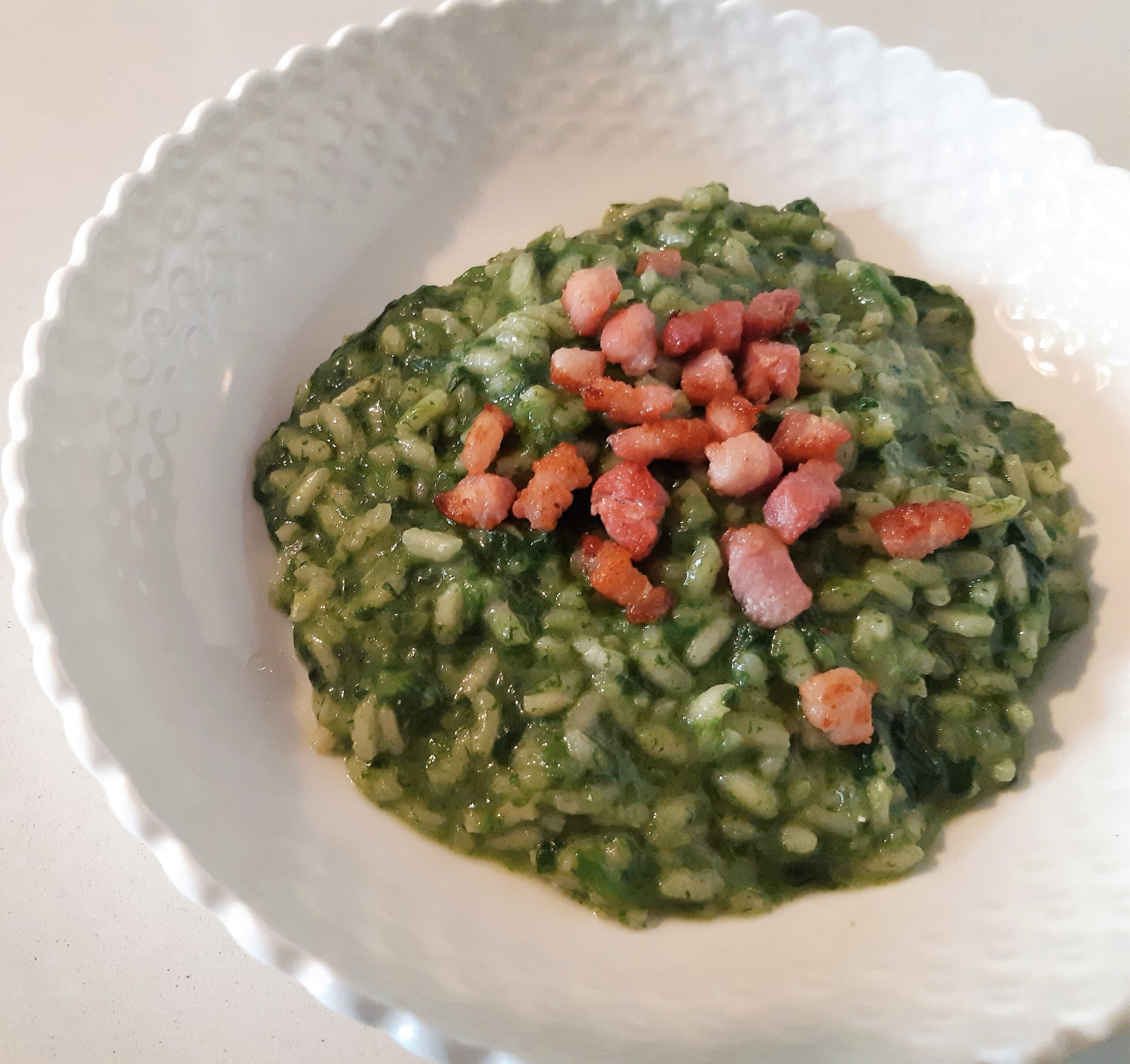 risotto agli spinaci