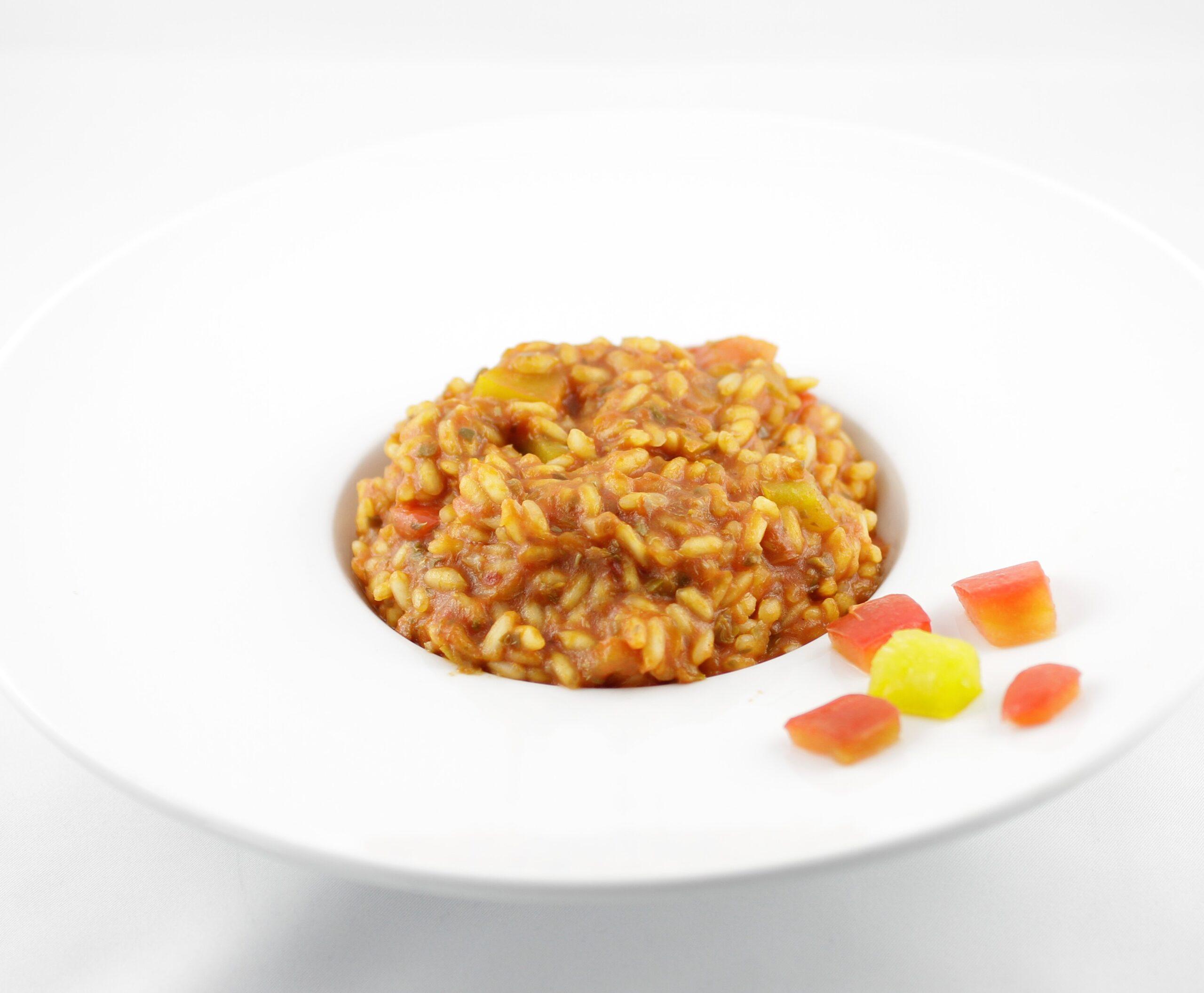 risotto coi peperoni arrostiti