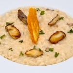 risotto con funghi porcini e cialda di Parmigiano